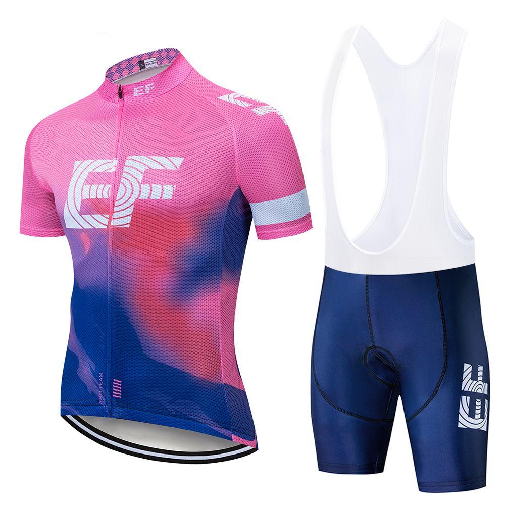 사이클링 저지 세트 2019 새로운 EF 여름 남성 사이클링 세트 레이싱 자전거 의류 소송 통기성 산악 자전거 옷 Sportwears