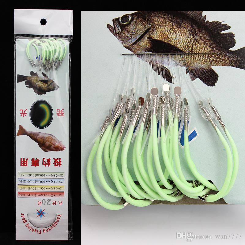 1 Set 12#-28# Luminous Maruseigo Hook (With Fishing Lines) Barbed Hooks Fishhooks Carp Fishing Pesca Fishing Tackle Accessories