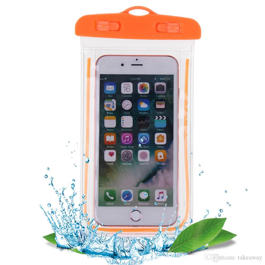 حقائب السباحة كيس ماء مع مضيئة حالة الحقيبة الحقيبة تحت الماء لجميع الموديلات 3.5 بوصة -6 بوصة