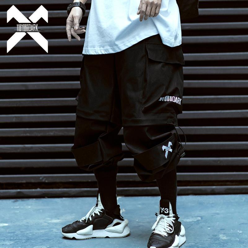 11 BYBB'S DARK Hip Hop Cargo Pant Homme amovible Pantalon court été Hommes Joggings tactique Sweatpants Streetwear hommes BB014