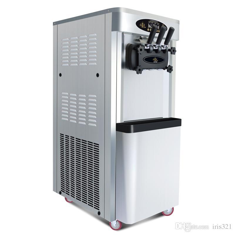 dikey tip ticari yumuşak dondurma makinesi yumuşak hizmet dondurma makinesi dondurma makinesi satılık
