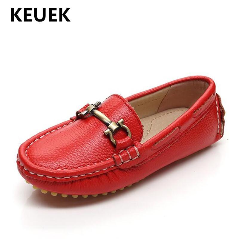 Nuevos zapatos de vestir de primavera para niños, cómodos, bebés, niños, mocasines casuales, sin cordones, de cuero genuino, niños, niñas, niños, zapatos planos 04