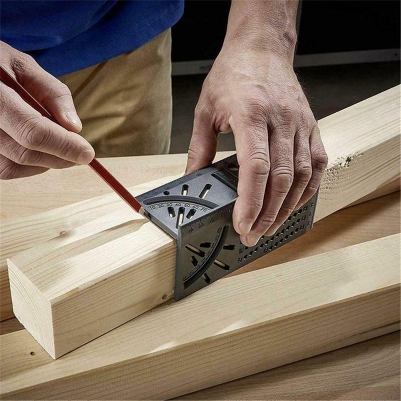 Travail du bois Règle 3D Mitre Goniomètre Taille Mesure outil carré