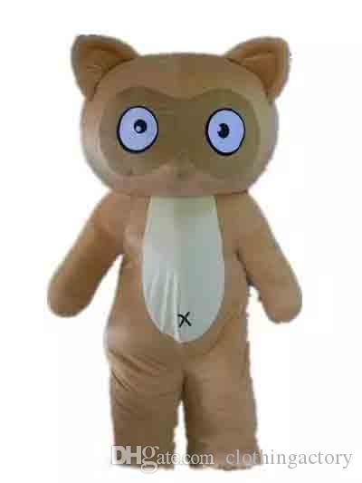 Descuento de 2018 en la venta de fábrica de un traje de mascota de lunar marrón de Asdlut para que un adulto la use