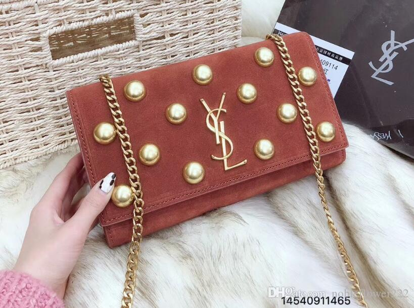 ... 61 YSL women s Genuine Leather chain bag handbag Shoulder Bag Envelope  bag Crossbody bags Shopping messenger ... 8c043d513076c
