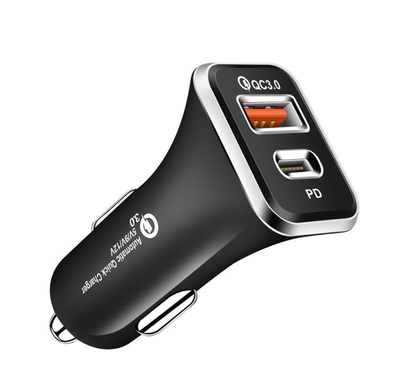 PD Car Charger Type-C Charger USB Phone Charger QC 3.0 For iPhone 12 11 Xs Car Accessories For Traveling