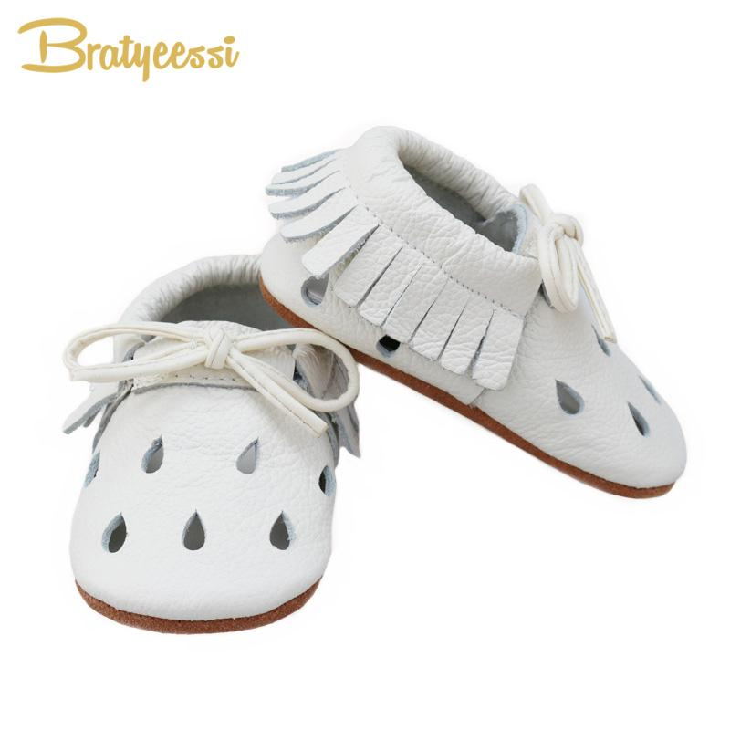 Fashion White Baby Shoes for Boys Girls Bow Genuine Leather Baby Moccasins Fringe Slip On Toddler Shoes Unisex First Walkers