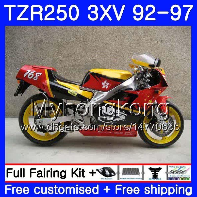 키트 적색 옐로우 신품 YAMAHA TZR 250 3XV YPVS TZR-250 92 93 94 95 96 97 245HM.10 TZR250RR RS TZR250 1992 1993 1994 1995 1996 1997 페어링