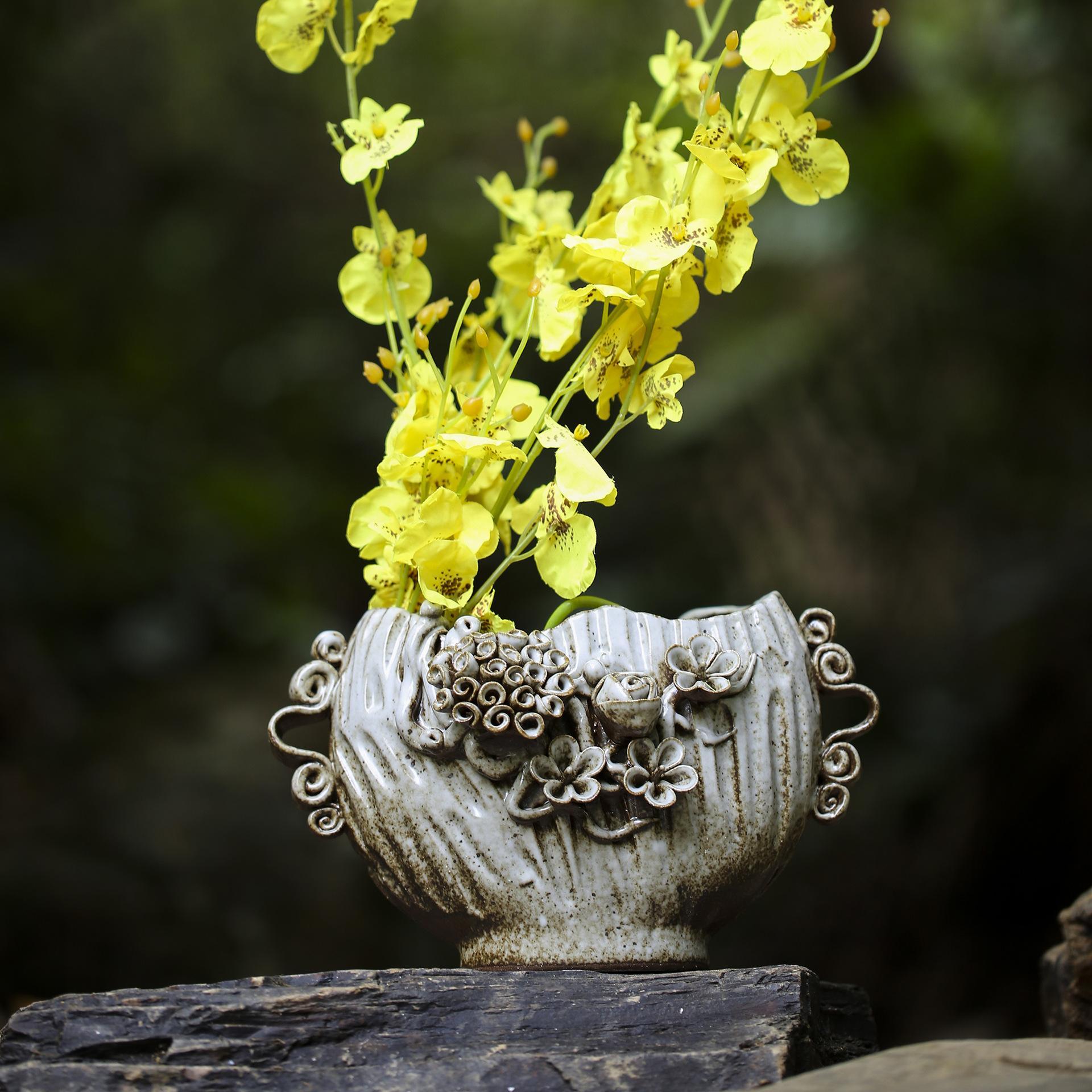 Sculpté à la main Céramique Décoration Vase Décoration Home Office Hôtel Création