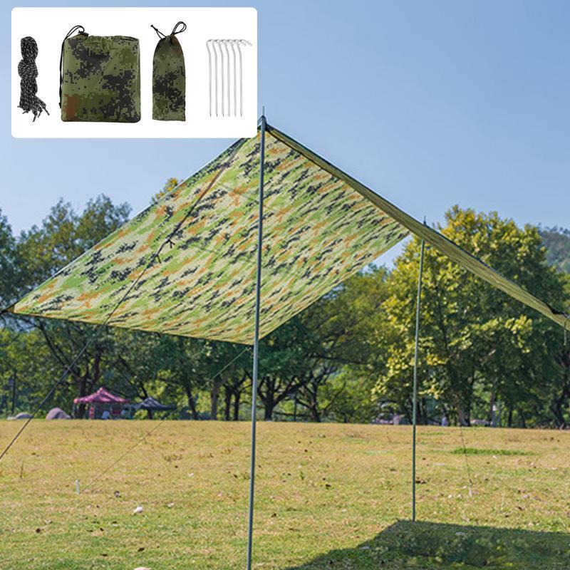 Refugio 3X2.9 M Lona Toldo tienda impermeable Shade Ultraligero Jardín techo de sombrilla camping al aire libre Hamaca Beach Sun Rain