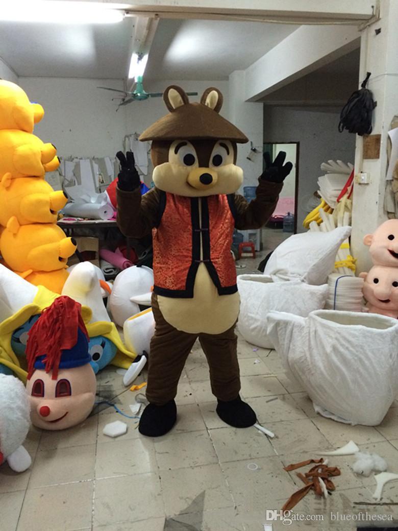 2019 Завод прямых продаж чипмак мультфильм кукла Костюм Талисмана Бесплатная доставка