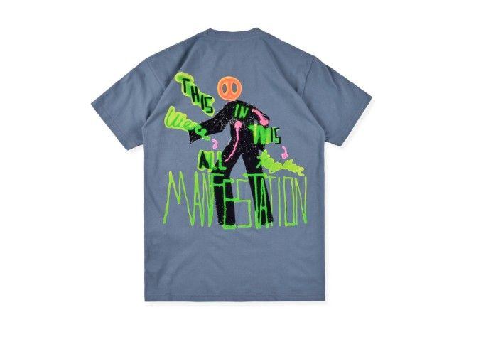 Travis Scott Astroworld shirt O pescoço dos homens T-shirts Travis Scott Astroworld manga curta Mens Tops camisetas Nova