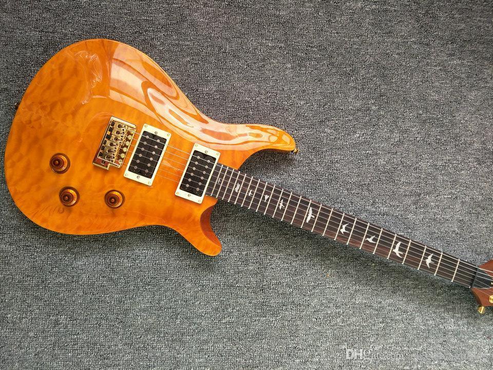 2019 mão OEM feitas de madeira personalizada cor laranja Paul Reed guitarra elétrica, abalone inlay escala de jacarandá, o envio gratuito de guitarra eléctrica
