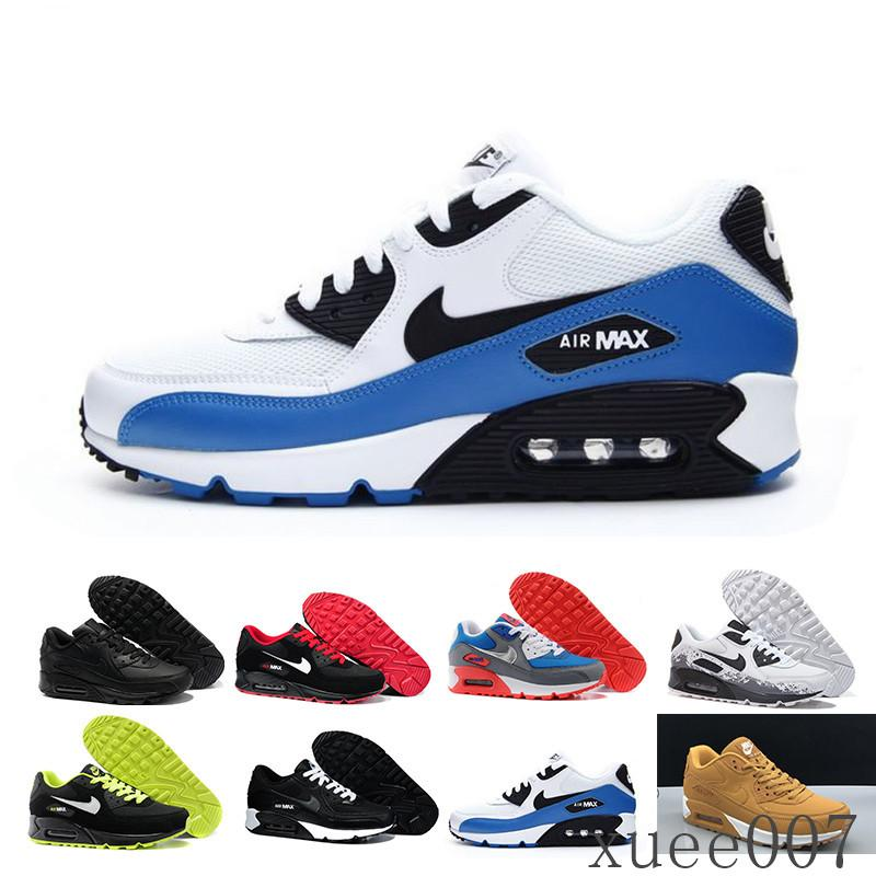 nike air max 90 airmax Il nuovo disegno 2019 Air Cushion 90 Casual Running Uomo Scarpe Cheap Nero Bianco Rosso 90 Sneakers Classic Air90 Trainer Outdoor Sports TYW1C