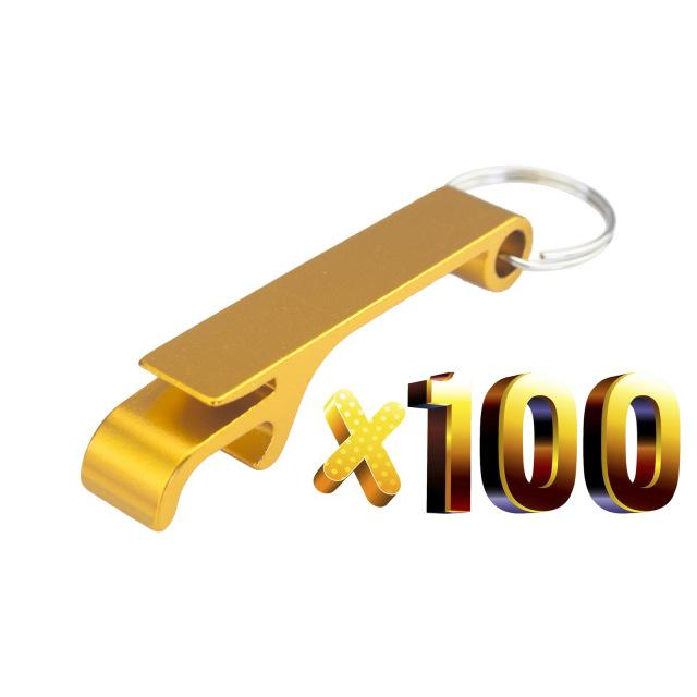 100pcs/Lot Aluminium Portable Can Bottle Opener Key Chain Ring Can Opener Restaurant Promotion Giveaway Gift Kitchen Bar Tool
