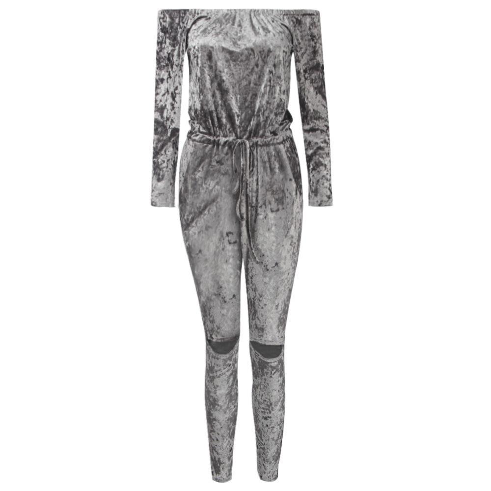 Neue Mode Mode Persönlichkeit Samt Schulter abgesenkten BH Hosen 0214 65507
