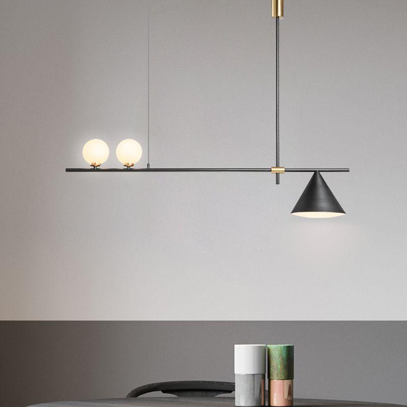 Modern Glass Pendant Light Nordic Dining Room Kitchen Light Designer Hanging Lamps Avize Lustre Lighting black/gold iron fitting