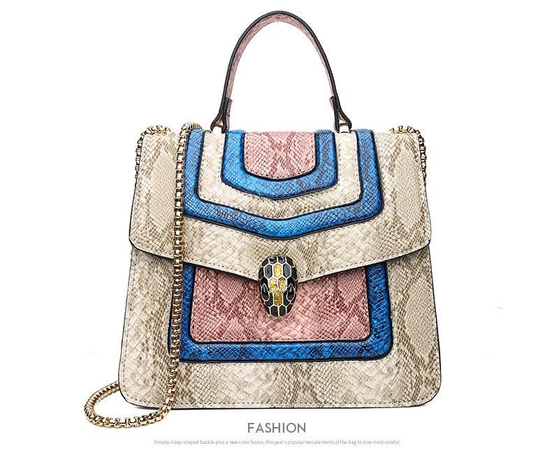 Nuevo estilo europeo y americano estilo retro de piel de serpiente bolsos móviles hombro bolso de cadena diagonal bolso pequeño bolso de hombro de las señoras al por mayor