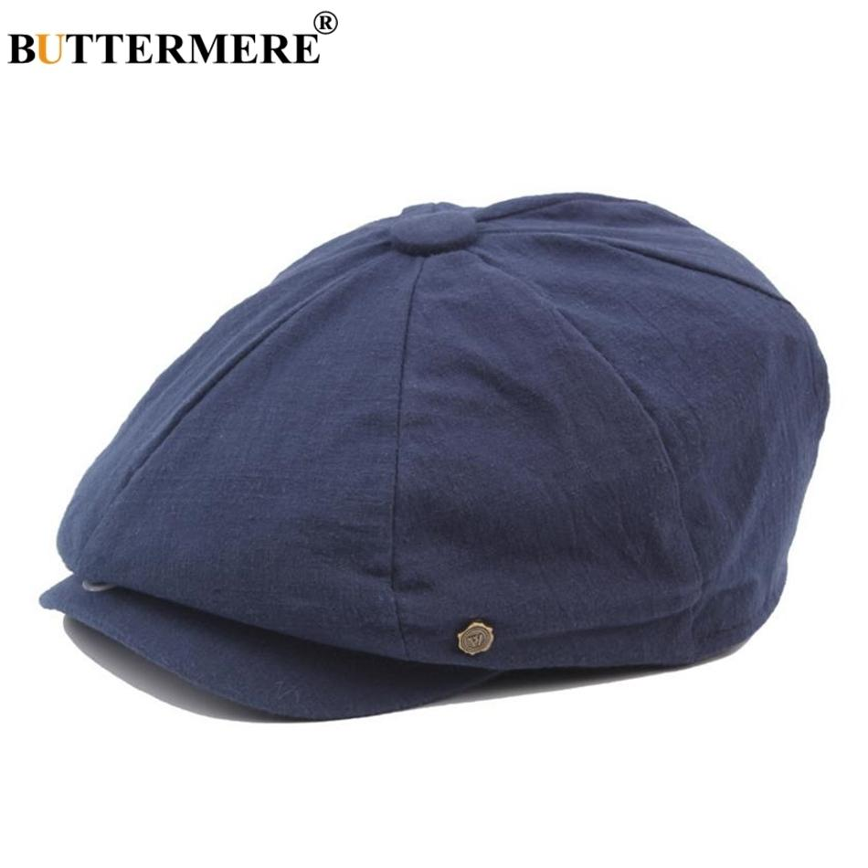 Adjustable Cotton Octagonal Cap Solid Newsboy Hat Outdoor Unisex Painter Cap