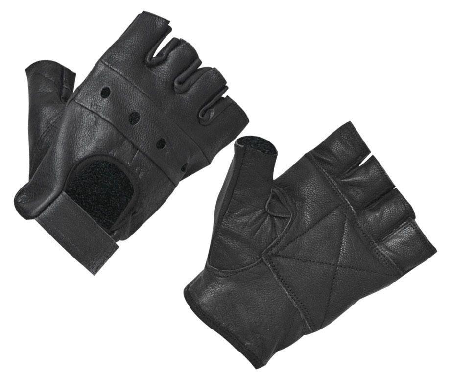 2019 جديد حار أزياء رجالية قفازات جلدية نصف اصبع أصابع المرحلة الرياضية القيادة قفازات سوداء صلبة