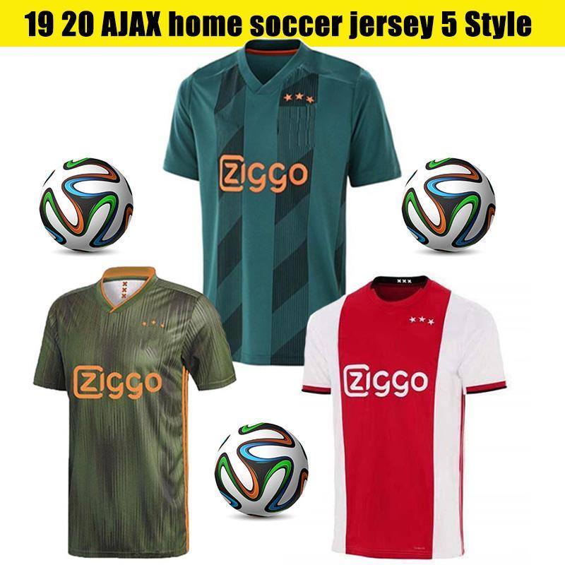 2020 Accueil AJAX Soccer Jerseys # 7 Neres # 10 TADIC # 4 DE Ligt # 22 # 21 ZIYECH DE JONG Joueur Version Chemises Homme Football