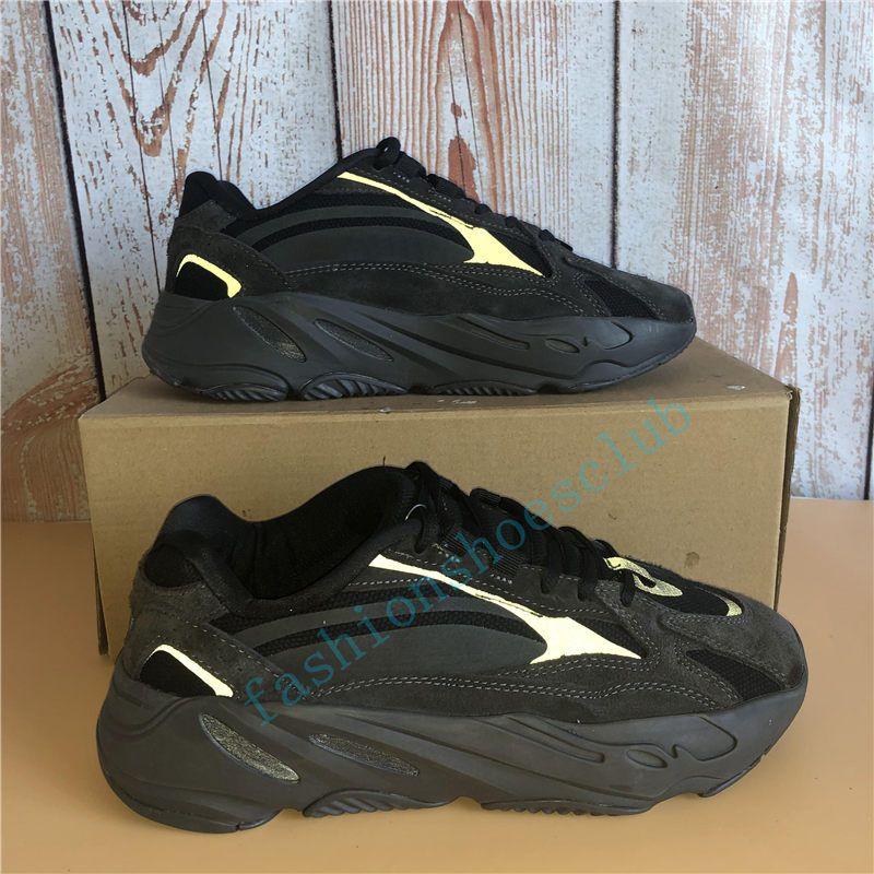 2020 Blue Carbon corridore dell'onda 700 Kanye West all'aperto scarpe uomini donne 700 V2 inerzia Ospedale Blu Vanta utilità nero pattini del progettista delle scarpe da tennis