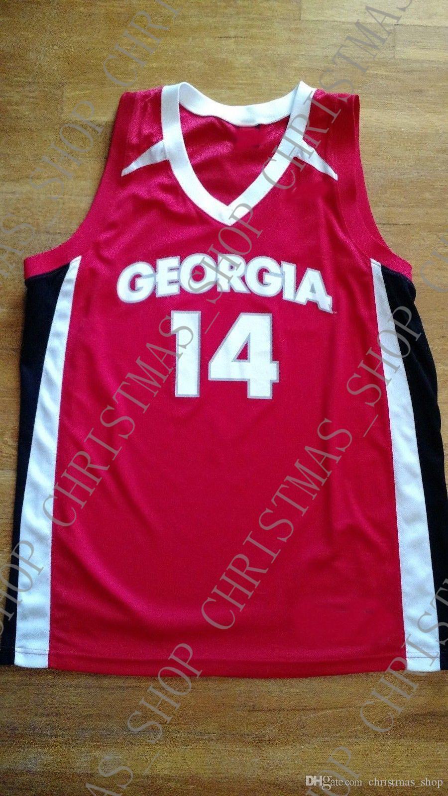 Günstige individuelle Georgia Bulldogs Basketball Jersey nähte Fertigen Sie jede mögliche Zahl Name MEN WOMEN JUGEND XS-5XL