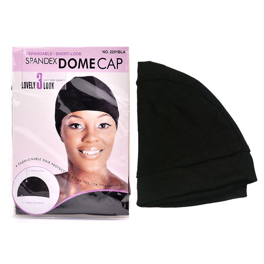Спандекс купол стиль парик крышка профессиональный стиль Черный один размер подходит для большинства продуктов ваши волосы 6 шт. / лот