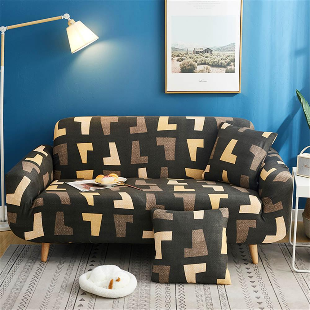 Coffee color sectional sofa cover with pillowcase for living room Wholesale High Quality of Home Furniture Protector