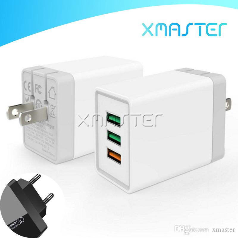 QC3.0 High Speed Charger Multi Port 3 USB Plug Adaptive Schnellladeadapter für Samsung Note 10 S10 Plus-S10E A70 xMaster