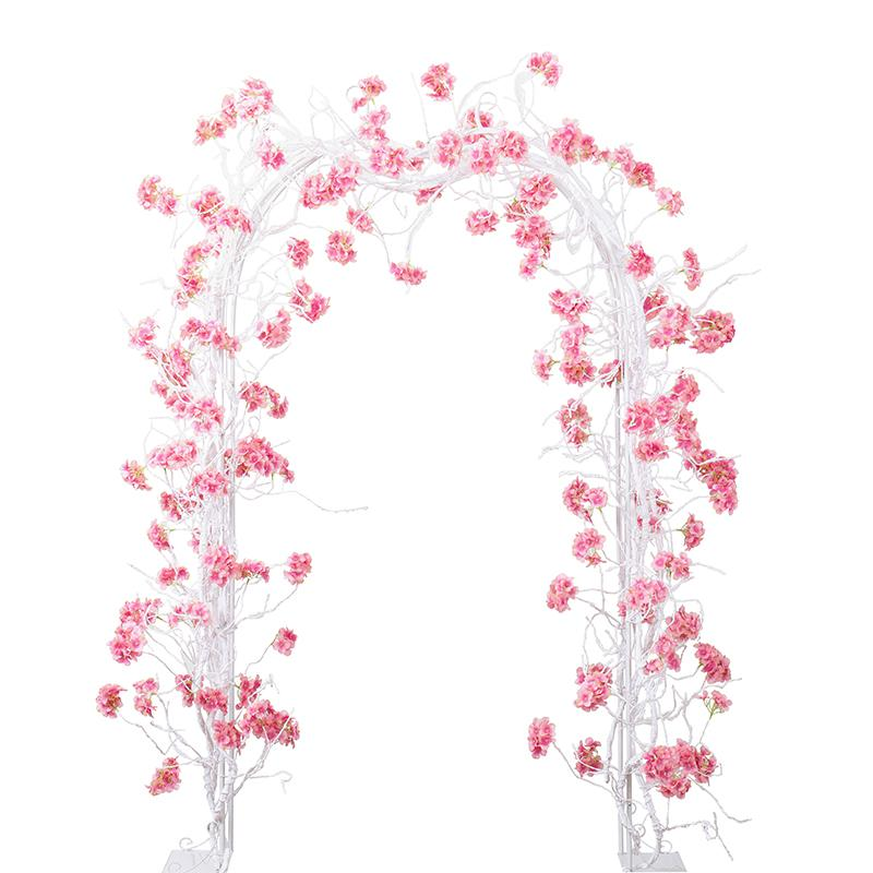 300CM artificiali lungo i fiori di glicine vite di seta del Hydrangea Rattan ramo di un albero Wedding Arch partito decorazione della parete di fiori sullo sfondo