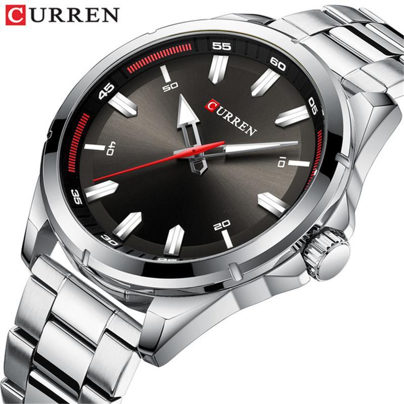 CURREN Top Brand Men Watches Luxury Stainless Steel Strap Wrist Watches Fashion Sports Watch Waterproof Relogio Masculino