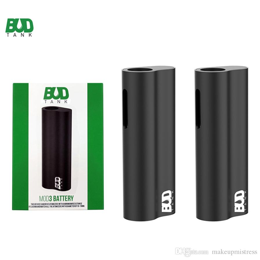 Original Budtank Mod3 Vape Mods 510 Fio Vape Bateria 390mAh Auto Desenhar Vape Pen Palma Mods Vaporizador Caneta Micro USB E Cigarros Bateria