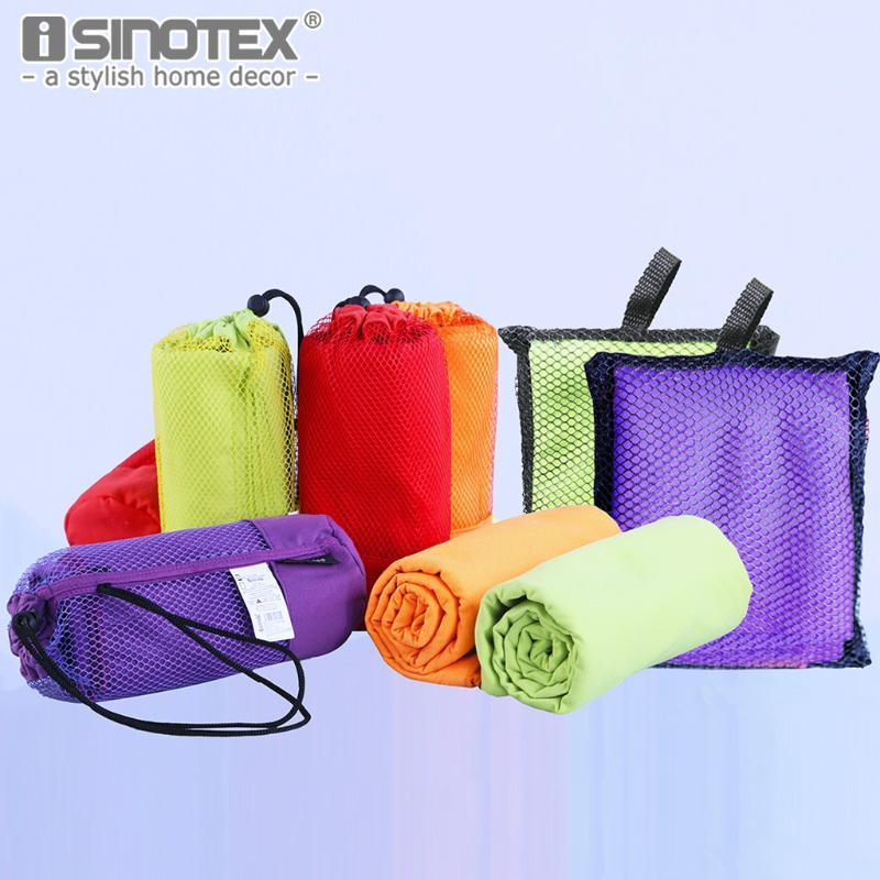 40x75cm Microfiber Sports Towel Travel Jogger Cloth With Bag toalha de esportes Camping Swim Gym Washcloth 5 colors 1pcs/lot