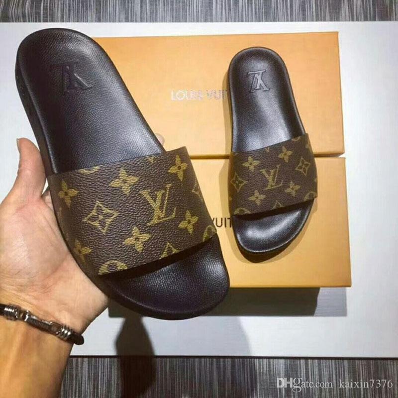 Top hommes femmes sandales avec boîte à fleurs correct sac à poussière designer chaussures impression serpent luxe diapo mode d'été large sandales plates Slipper0011