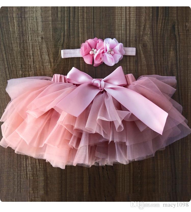 UK 2Pcs Infant Newborn Baby Girls Panties Skirts Tutu Dress Headband Clothes New