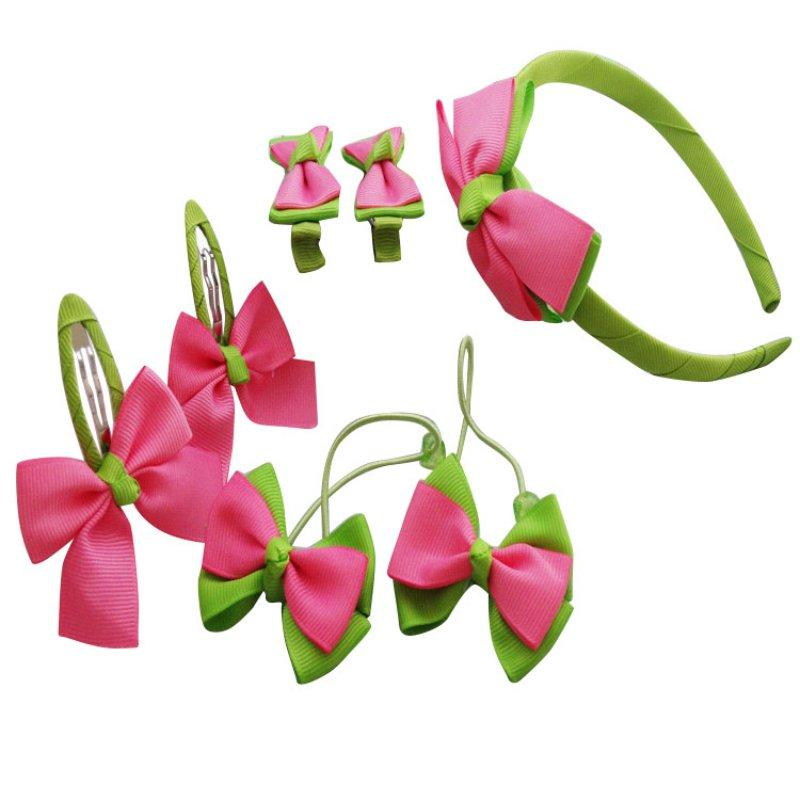 Fashion Headwear Sets Hairpins Elastic Hair bands Handmade Dots Headbands Hair Clips for Girls New Arrival