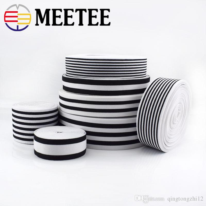 Meetee Nylon Elastic Bands High Tenacity Rubber Clothes Lace Trim Waist Band Garment Trouser Accessories KY313