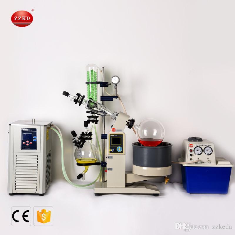 ZZKD 5L R1005 Lab evaporador rotativo personaliza evaporador evaporação do motor de elevação Turnkey Pacote w vácuo / água Bomba Chille