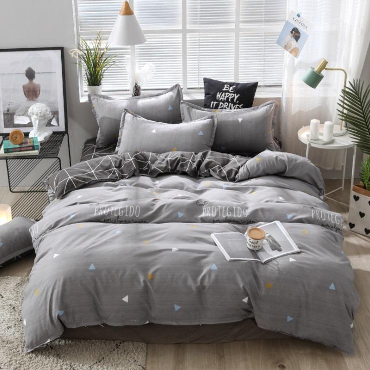 mylb 침구 세트 동물 3 / 4 개 패밀리 세트는 이불 커버 베개 보이 룸 장식 침대 커버 시트 침대 포함합니다