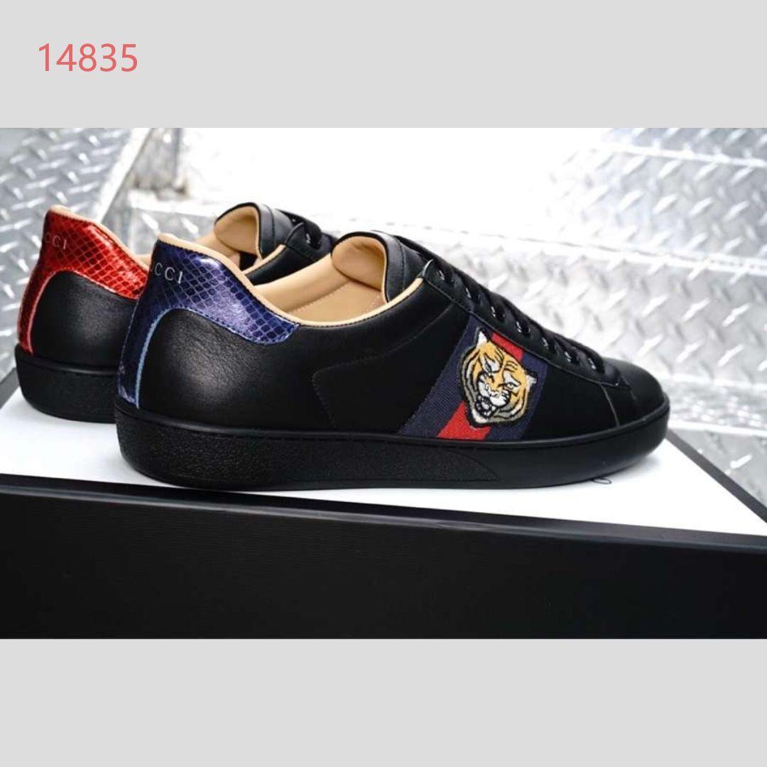 Luxus-Schuhe klassischer Stil Männer flach beiläufige Sportschuhe echte Turnschuhe Freizeit Farbabmusterung Mode Leder 50