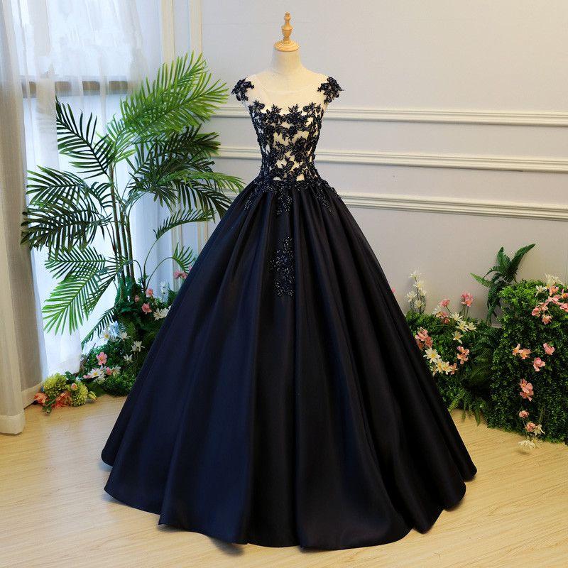Azul marino oscuro azul bordado vestidos de baile 2020 Tamaño de Cristal larga moldeada Prom Vestidos Abiye Plus hinchada de los vestidos de bola Vestido Longo