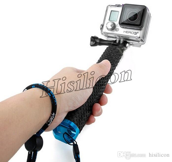 Newest High Quality 48cm Protable GoPro Hero3+ 3 Selfie Stick 4 Colors Waterproof Monopod With Retail Package