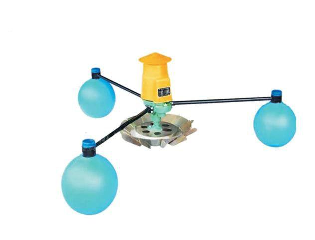 3kw aerator impeller type farm pond floating pump fish pond breeding pump three large floating ball