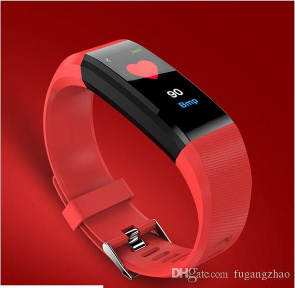 Fréquence cardiaque, tension artérielle, santé du sommeil et imperméabilisation de l'écran couleur Écran à main intelligent Motomètre, bracelet intelligent, compteur de pas