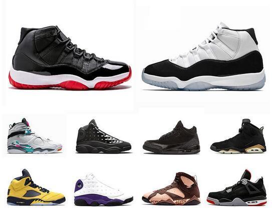 Bred 11s Concord mens chaussures de basket-ball de 12s Gym Red 13s Cap et de robe Michigan de South Beach 5s de baskets de sport