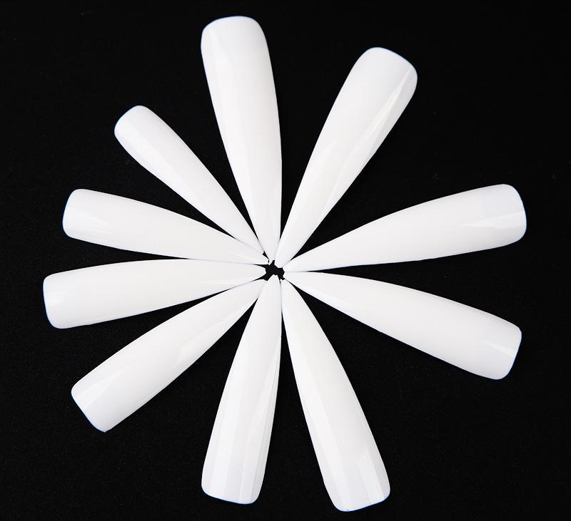 2020 새로운 도매 500 개 / 가방 뷰티 네일 거짓 손톱 운동 손톱 조각 세 가지 색상의 네일 팁 아티스트 디자인 DHL