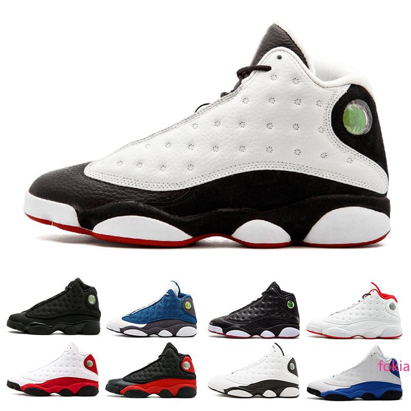 13 13s uomini He got game designer di scarpe da basket Black Cat Melo Classe del 2003 Toe Grey allevato scarpe sportive Low Chutney sneakers