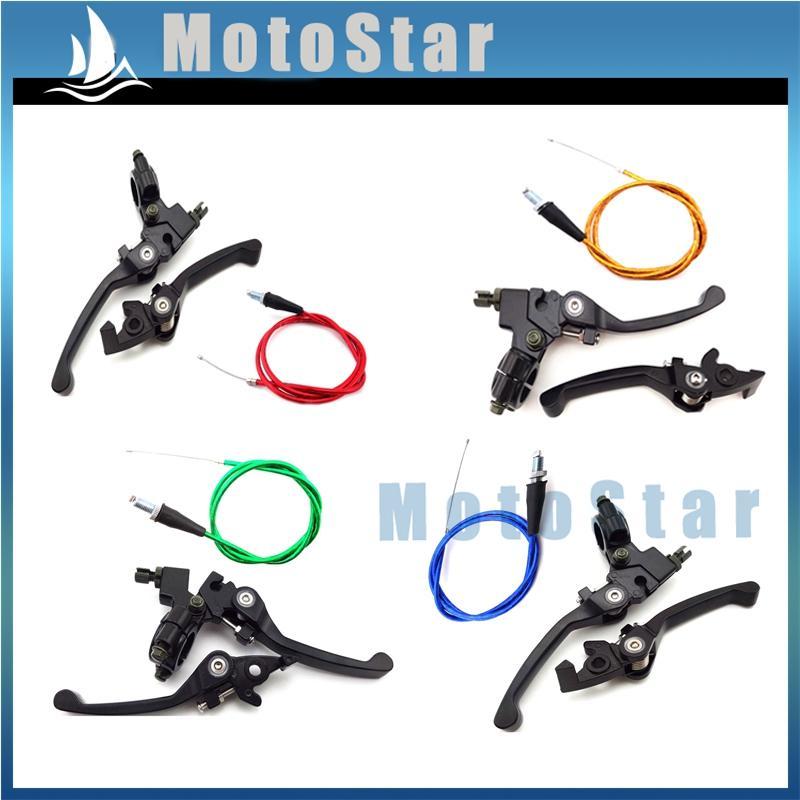 Maniglia del freno Leva frizione cavo acceleratore Per il cinese Pit Dirt Motor Bike Trail 50cc 70cc 90cc 110cc 125cc 140cc 150cc 160cc