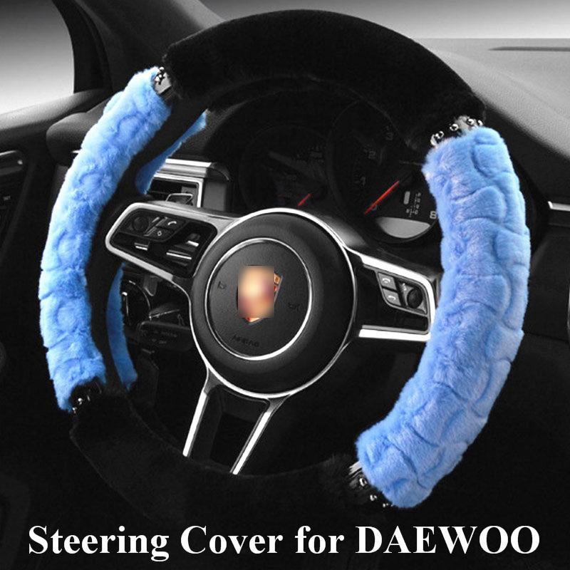 Car Steering Wheel Cover for daewoo/daewoo nexia/lanos All Model Braid On The Handlebar 38 cm direksiyon seti araba jant